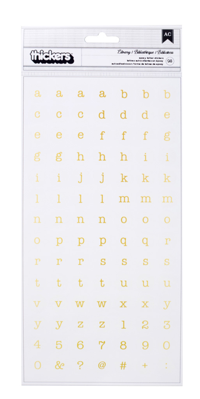Maggie Holmes Open Book Alpha Gold Thickers – 98 Pieces