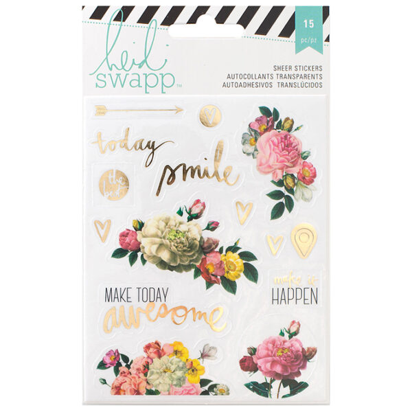 HS memory planner floral stickers 312575_l