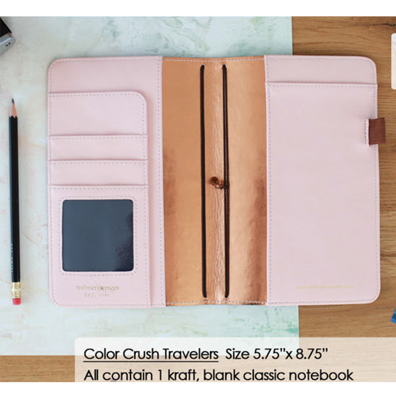 websters pages color crush naturals walnut travelers notebook