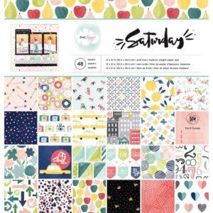 American-Crafts-Dear-Lizzy-Saturday-Paper-Pad-12x12