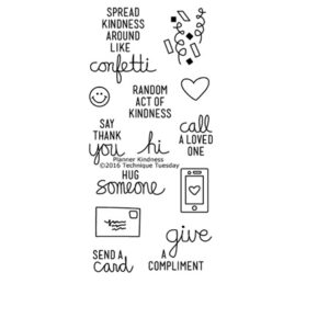 Technique-Tuesday-Planner-Kindness-Clear-Stamps-Medium