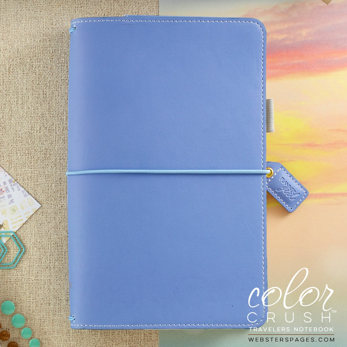Websters Pages Color Crush Periwinkle Travelers Notebook