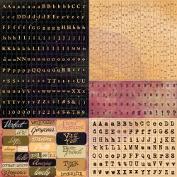 558987 12x12 Cardstock Alphabet Stickers Romance Novel