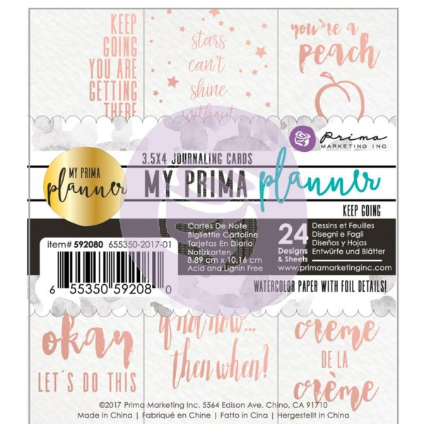 My Prima Planner Embelishments - Journaling Cards - Keep Going