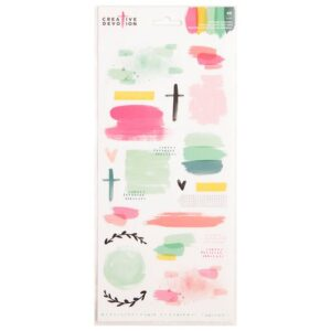American Crafts - Creative Devotion Collection - Cardstock Stickers - Texture