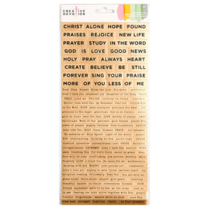 American Crafts - Creative Devotion Collection - Cardstock Stickers - Word