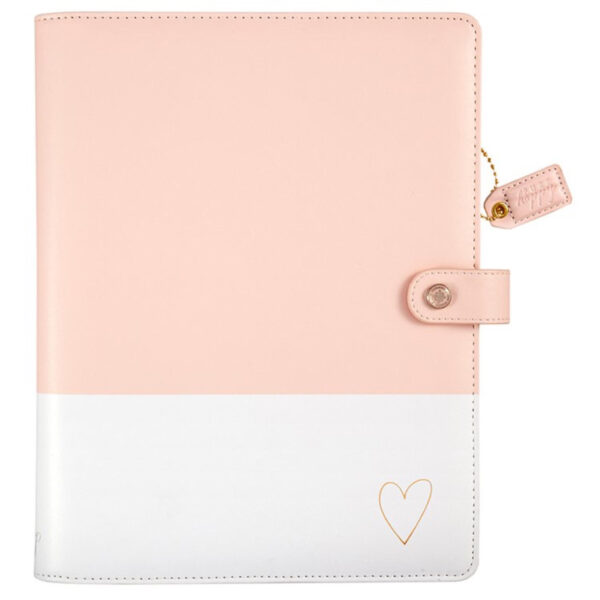Websters Pages Blush & Gold Heart Composition Planner