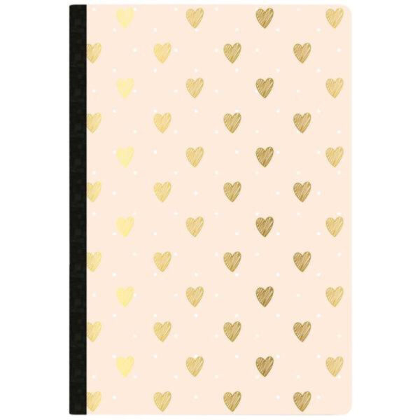 Websters Pages Gold Heart Day Tracker Composition Notebook
