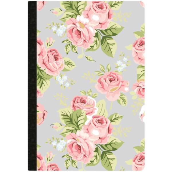 Websters Pages Grey Floral - Dot Grid Composition Notebook