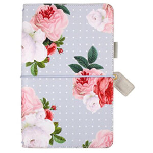 Websters Pages Grey Floral Travelers Notebook