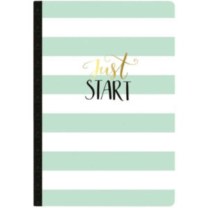 Websters Pages Just Start Undated Calendar Composition Notebook